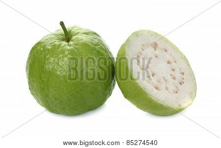Guava (tropical Fruit) Isolated On White Background