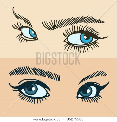 blue womens eyes