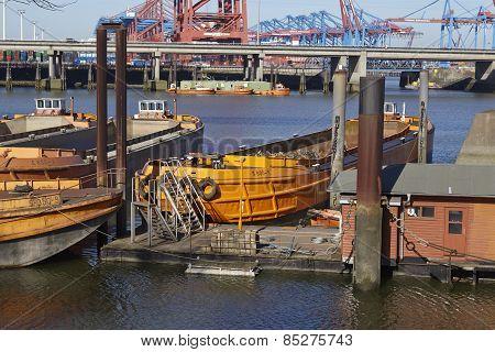 Hamburg (germany) - Ships At The Rugenberger Port