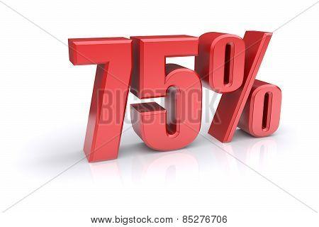 75 Percent Sign