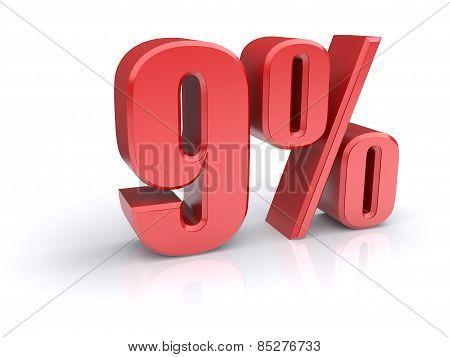 9 Percent Sign