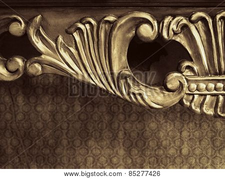 Wooden Furniture Ornament