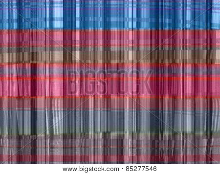 Abstract fabric plaid  colorful Texture on  Cotton background