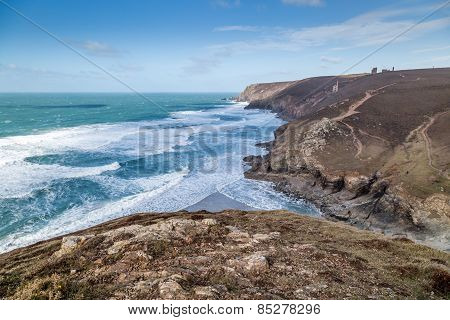Chapel porth in cornwall england uk
