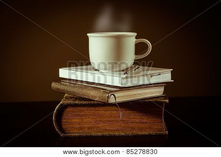 Cup Of Tea On The Book