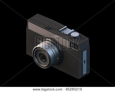 Vintage film camera 3d render