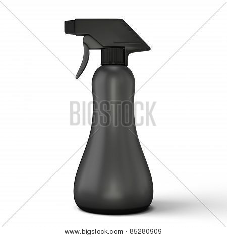 Black Spray Bottle Mockup
