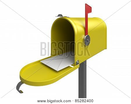 Mailbox With Letter