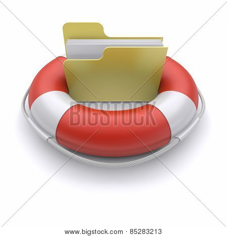 File Folder In Lifebuoy