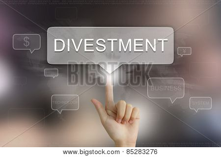Hand Clicking On Divestment Button