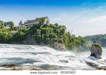 Rheinfall, Waterfall Of The River Rhein At Neuhausen, Schaffhausen, Switzerland