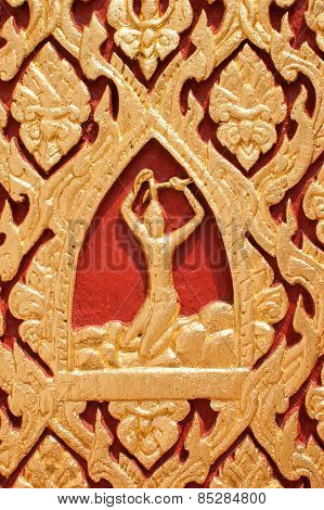 Wood Carved Red.