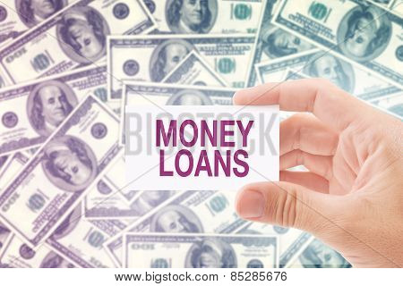 Money Loan In Dollar Banknotes