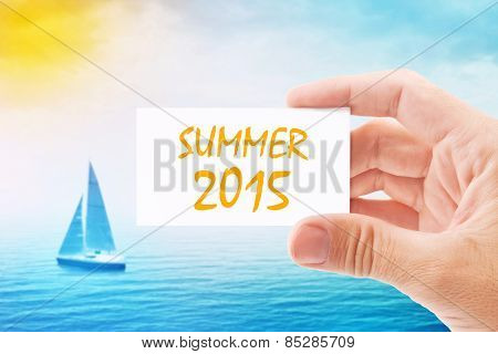 Tourist Agent With Summer 2015 Visiting Card