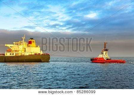 Tanker And Tug