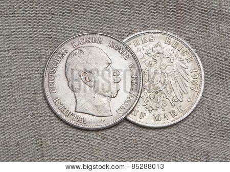 Old Silver Coins Of German Reich