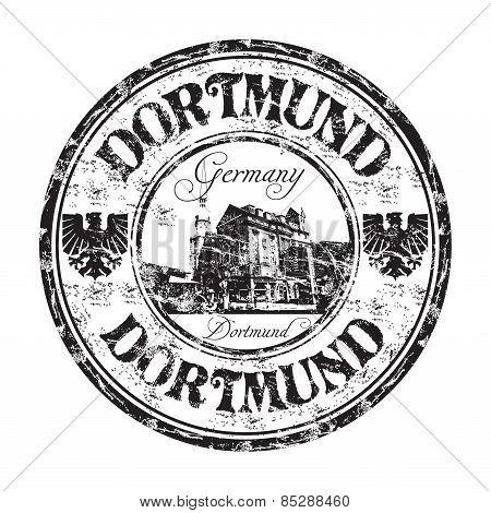 Dortmund grunge rubber stamp