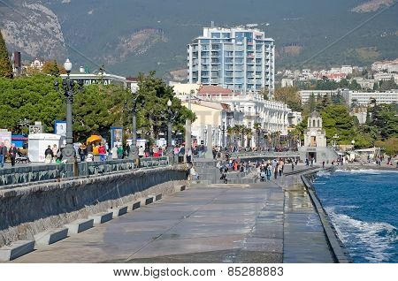 Central Embankment In Yalta