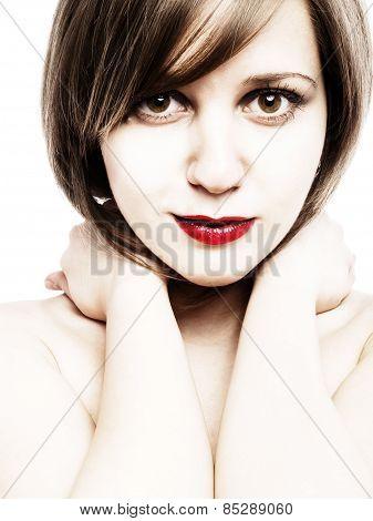 Young Woman Face Portrait