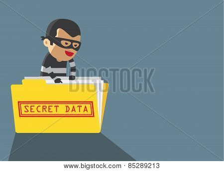 Hacker robbery secret data