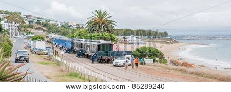 Railway Coaches Provide Accomodation For Visitors At The Dias Beach