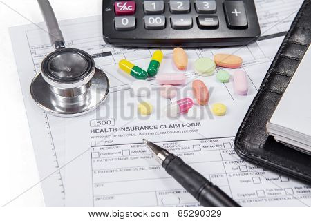 Closeup Of Medical Insurance Form