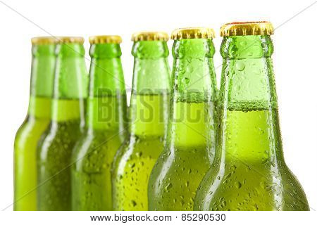Cold Alcohol Drink In The Bottles