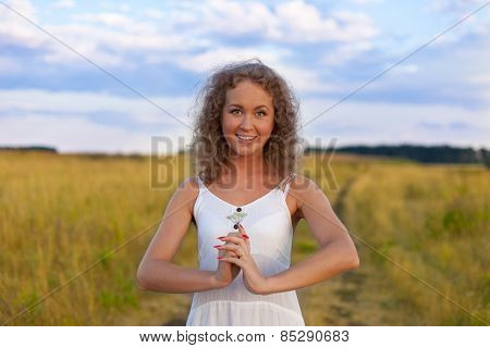 Beautiful Smiling Woman Outdoors