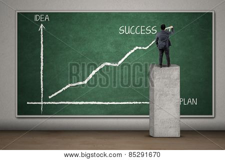 Entrepreneur Drawing A Plan Statistics
