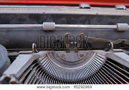 Vintage Hebrew typewriter