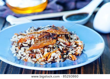Fried Eel With Rice