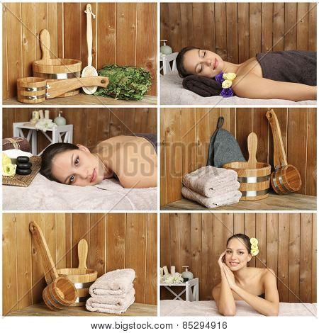 Sauna collage
