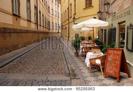 Deserted Street In Prague