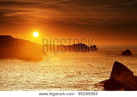 Sunset At Cantabrian Coast