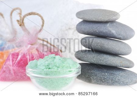 Salt For  Bath, Towel And Stones