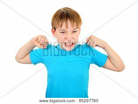 Kid Muscle Flexing