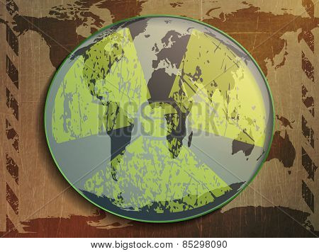 world map ,radiation