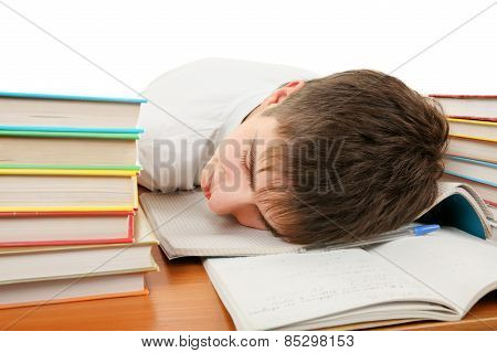Tired Student Sleep
