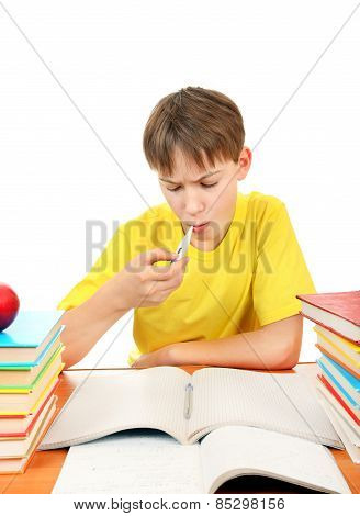 Sick Kid With A Books