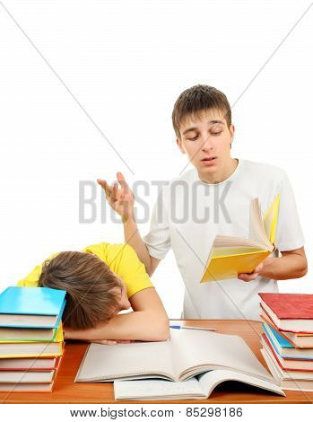 Brothers Doing Homework