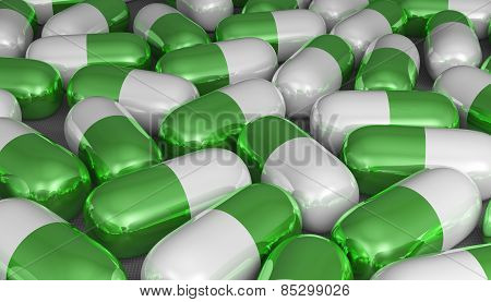 White And Green Pills