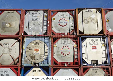 Pile Of Tank Container