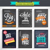 picture of 50s  - Set of six different Sale flyers with fantastic discount offer - JPG