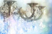 image of chandelier  - Vintage crystal chandelier details - JPG