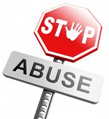 stock photo of pedophilia  - stop child abuse or misuse of power and domestic violence prevention warning sign