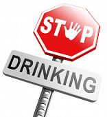 picture of alcoholic drinks  - stop drinking alcohol no alcoholism or drunk driving addict alcoholic to rehabilitation - JPG