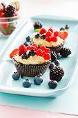 stock photo of tarts  - berries tart - JPG