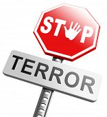 picture of war terror  - no more terror stop violence terrorism and war - JPG