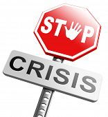 picture of stock market crash  - stop crisis recession and inflation economic and bank downfall stock market crash - JPG