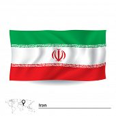 picture of tehran  - Flag of Iran  - JPG